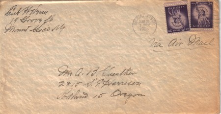 Letter from Edith Helena to Art Guenther, March 21, 1956.