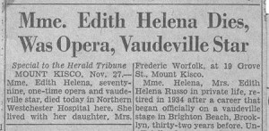 Edith Helena's obituary (d. 11-27-1956).